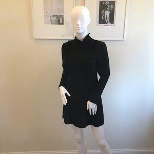 ZARA Women's Black Ruffle Dress X Small